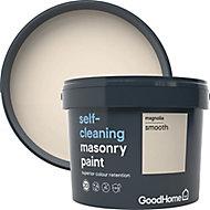 GoodHome Self-cleaning Magnolia Smooth Matt Masonry paint, 10L