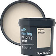 GoodHome Self-cleaning Magnolia Smooth Matt Masonry paint, 5L