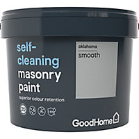 GoodHome Self-cleaning Oklahoma Smooth Matt Masonry paint, 10L