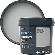 GoodHome Self-cleaning Oklahoma Smooth Matt Masonry paint, 5L