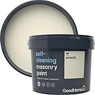 GoodHome Self-cleaning Vail Smooth Matt Masonry paint, 10L