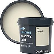 GoodHome Self-cleaning Vail Smooth Matt Masonry paint, 5L