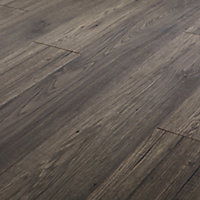 GoodHome Shildon Black Dark oak effect Laminate Flooring, 1.76m² Pack