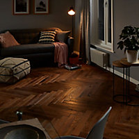 GoodHome Skanor narrow Oak Solid wood flooring, 0.86m² Pack