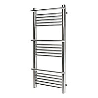 GoodHome Solna 313W Electric Chrome plated Towel warmer (H)1100mm (W)500mm