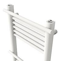 GoodHome Solna 459W Electric White Towel warmer (H)1100mm (W)500mm