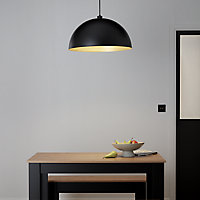 GoodHome Songor Black Light shade (D)580mm
