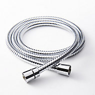 GoodHome Stainless steel Shower hose, (L)1.25m