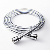 GoodHome Stainless steel Shower hose, (L)1.5m