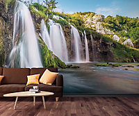 GoodHome Stelis Multicolour Waterfall Matt Mural