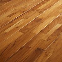GoodHome Surin Natural Teak Solid wood flooring, 1.15m² Pack