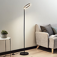 GoodHome Taphao Matt Black LED Floor light