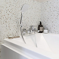 GoodHome Teesta Chrome effect Chrome-plated Shower kit