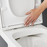 GoodHome Teesta Close-coupled Rimless Toilet with Soft close seat