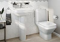 GoodHome Teesta Close-coupled Toilet & full pedestal basin