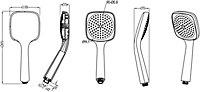GoodHome Teesta Single-spray pattern Shower head