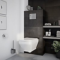 GoodHome Teesta Wall hung Rimless Toilet with Soft close seat