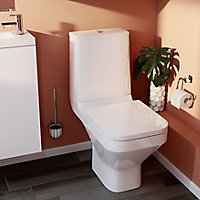 GoodHome Teesta White Quick release Soft close Toilet seat