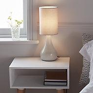 GoodHome Tertrez Light grey Table light