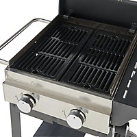 GoodHome Tippah 2.0 Black 2 burner Gas Barbecue