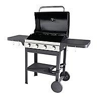 GoodHome Tippah 4.0 Black 4 burner Gas Barbecue