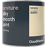 GoodHome Toronto Satin Furniture paint, 500ml