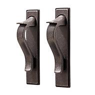 GoodHome Toum Pewter effect Aluminium Cabinet Handle (L)26mm, Pack of 2