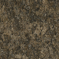 GoodHome Umbria Gloss Stone effect Brown Worktop edging tape, (L)3m