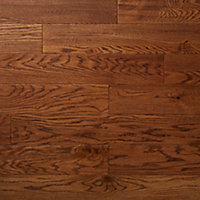 GoodHome Usborne Natural Oak Real wood top layer flooring, 1.21m² Pack