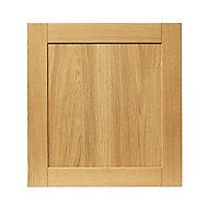 GoodHome Verbena Natural oak shaker Appliance Cabinet door (W)600mm (T)20mm