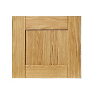 GoodHome Verbena Natural oak shaker Drawer front, bridging door & bi fold door, (W)400mm