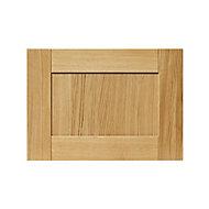 GoodHome Verbena Natural oak shaker Drawer front, bridging door & bi fold door, (W)500mm