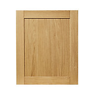 GoodHome Verbena Natural oak shaker Highline Cabinet door (W)600mm (T)20mm