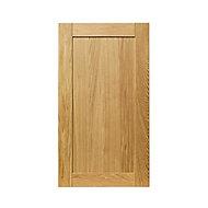 GoodHome Verbena Natural oak shaker Tall wall Cabinet door (W)500mm (T)20mm