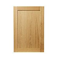 GoodHome Verbena Natural oak shaker Tall wall Cabinet door (W)600mm (T)20mm