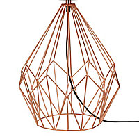 GoodHome Vertree Copper effect Table light