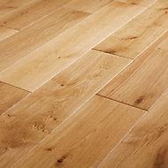 GoodHome Visby Natural Oak Solid wood Flooring, 1.152m² Set