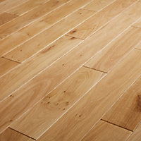 GoodHome Visby Natural Oak Solid wood flooring, 1.3m² Pack