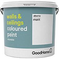 GoodHome Walls & ceilings Alberta Matt Emulsion paint, 5L