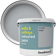 GoodHome Walls & ceilings Brooklyn Matt Emulsion paint 5L