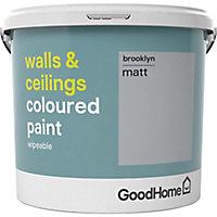 GoodHome Walls & ceilings Brooklyn Matt Emulsion paint, 5L