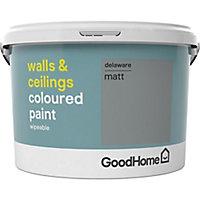 GoodHome Walls & ceilings Delaware Matt Emulsion paint, 2.5L
