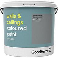 GoodHome Walls & ceilings Delaware Matt Emulsion paint, 5L