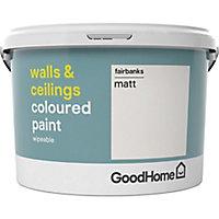 GoodHome Walls & ceilings Fairbanks Matt Emulsion paint, 2.5L