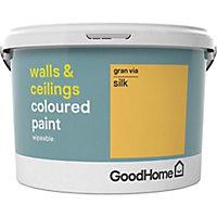 GoodHome Walls & ceilings Gran via Silk Emulsion paint, 2.5L