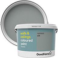 GoodHome Walls & ceilings Manhattan Silk Emulsion paint, 2.5L
