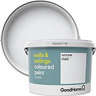 GoodHome Walls & ceilings North pole Matt Emulsion paint, 2.5L