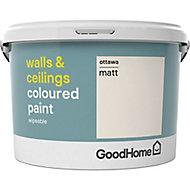 GoodHome Walls & ceilings Ottawa Matt Emulsion paint, 2.5L