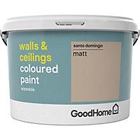 GoodHome Walls & ceilings Santo domingo Matt Emulsion paint, 2.5L