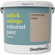 GoodHome Walls & ceilings Santo domingo Matt Emulsion paint, 5L